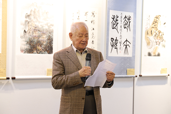 7-人民解放军军事科学院原副院长糜振玉将军宣布活动开幕.JPG