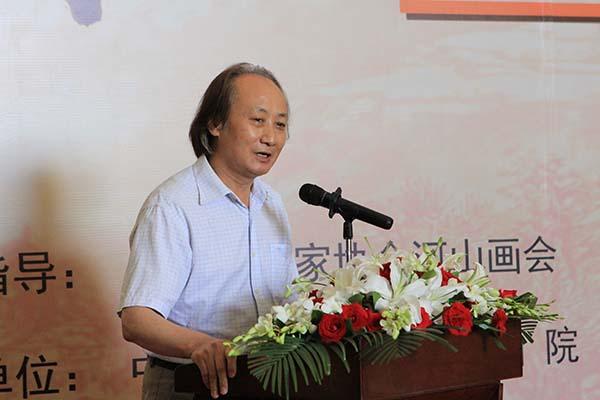 5,新葡萄京娱乐场金融美术家协会副主席兼秘书长杨雍致辞.JPG